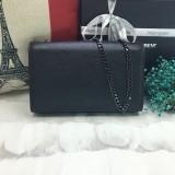 YSL Saint Laurent Caviar Leather Clutch Bags Chain Shoulder Bag