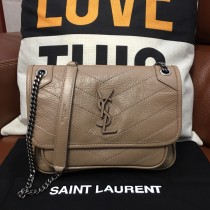 New YSL Niki Baby Vintage Leather Shoulder Bag HandBag