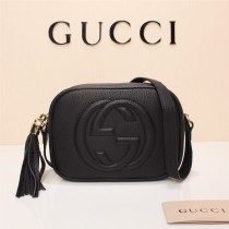Gucciss Real Leather Soho Disco Bag 308364 Black