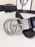 Gucciss Signature leather belt W3.8CM Silver