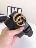 Gucciss Signature leather belt W3.8CM Gold