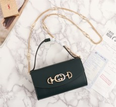 Gucciss Zumi smooth leather mini bag Green 564718