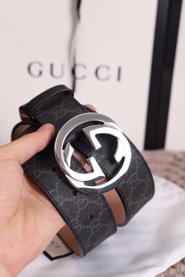 Gucciss Leather Men Women Belt W3.8cm