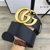 W7.0 Cm Wide Leather Belt With Double G Women Belts