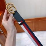 Gucciss Sylvie Web Belt With Double G Buckle W4.0CM Black