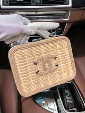 Chanelss Rattan Medium Vanity Case Bags 93342 Nude