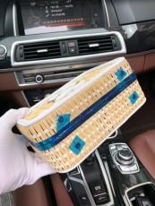 Chanelss Rattan Medium Vanity Case Bags 93342 White