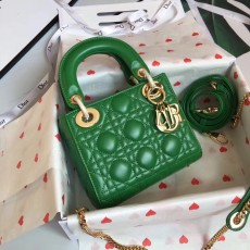 Lady Diorss Lambskin Leather Mini Handbag Shoulder Bag Aaa+ Quality Green
