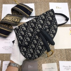 Diorss Oblique Saddle Belt Bag Aaa+ Quality Black