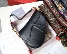 Diorss Saddle Bag Smooth Calfskin Handbag Shoulder Bags AAA+ Quality Black