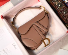 Diorss Saddle Bag Smooth Calfskin Handbag Shoulder Bags AAA+ Quality Nude