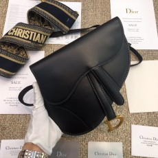 Diorss Saddle Calfskin Belt Bag Aaa+ Quality Black