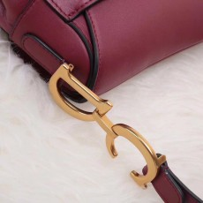 Diorss Saddle Bag Smooth Calfskin Handbag Shoulder Bags AAA+ Quality Maroon