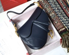 Diorss Saddle Bag Smooth Calfskin Handbag Shoulder Bags AAA+ Quality Navy