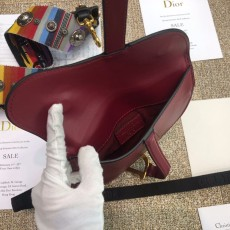 Diorss Saddle Calfskin Belt Bag Aaa+ Quality Maroon