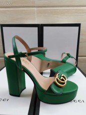 Gucciss Leather High heels Women's Shoes 34-42 Green