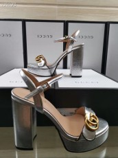 Gucciss Leather High heels Shoes 34-42 silver