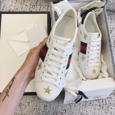 Men Women Real Snakeskin Calfskin Leather Gucciss Sneakers Shoes 35-45 Top AAA+ Quqaliy