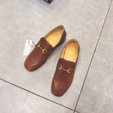 Gucciss Cow Leather Shoes Brwon 34-40