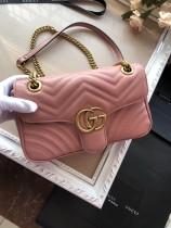 Gucciss GG Medium Marmont Leather Shoulder Bag 443497 Pink