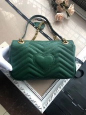 Gucciss GG Medium Marmont Leather Shoulder Bag 443497 Green