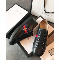 Men's Women's Gucciss Leather Sneakers Shoes 35-44 Black