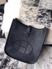 Hermesss Calfskin Evelyne Mini Shoulder Bag Black