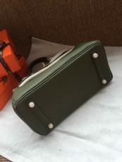 Hermesss Birkin 25 30 35 Calfskin Handbag Shoulder Bag Green