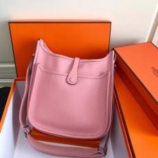 Hermesss Calfskin Evelyne Large Shoulder Bag Pink