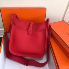 Hermesss Calfskin Evelyne Large Shoulder Bag Red
