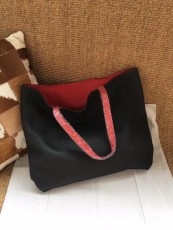 Hermesss Calfskin Leather Shopping Bags Tote Bag Black