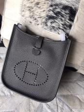 Hermesss Calfskin Evelyne Mini Shoulder Bag Gray