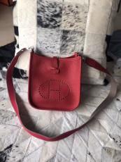 Hermesss Calfskin Evelyne Mini Shoulder Bag Red