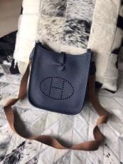 Hermesss Calfskin Evelyne Mini Shoulder Bag Blue