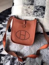 Hermesss Calfskin Evelyne Mini Shoulder Bag  Brown
