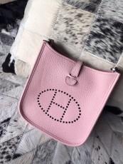 Hermesss Calfskin Evelyne Mini Shoulder Bag Pink