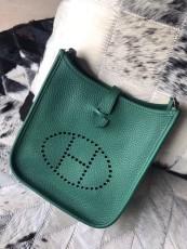 Hermesss Calfskin Evelyne Mini Shoulder Bag Green