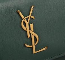 YSL Sunset Handbag Shoulder Bag 442906 Green