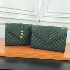 YSL Medium Caviar leather Handbag Shoulder Bag Green