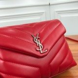 YSL Loulou Mini Leather Shoulder Bag 467072 Red