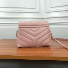 YSL Loulou Mini Leather Shoulder Bag 467072 Pink