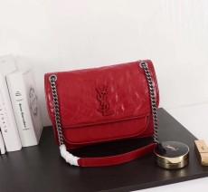 YSL Saint Laurent Niki Handbag Shoulder Bag 498893 Red