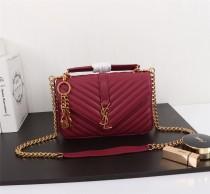 YSL Saint Laurent Medium Handbag Shoulder Bag F26611 Maroon