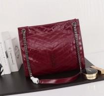 New Ysl Saint Laurent Niki Shopping Tote Bag 577999 Maroon