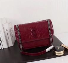 YSL Saint Laurent Niki Handbag Shoulder Bag 498893 Maroon