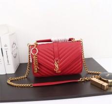 YSL Saint Laurent Medium Handbag Shoulder Bag F26611 Red