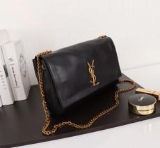 New YSL Saint Laurent Kate Shoulder Bag 553804 Black