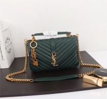 YSL Saint Laurent Medium Handbag Shoulder Bag F26611 Green