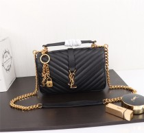 YSL Saint Laurent Medium Handbag Shoulder Bag F26611 Black