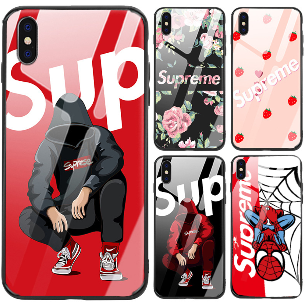 Buy Supreme Spiderman IPhone Case Tempered Glass IPhone 7 8 Plus X